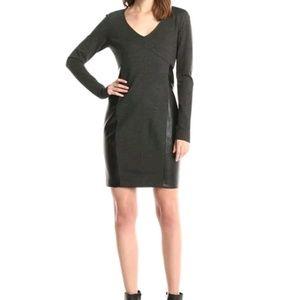 New Sz 4 DKNYC Grey Dress with Pleather panels